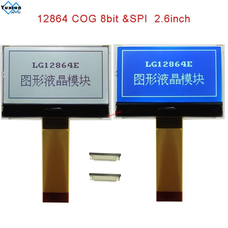 Módulo lcd COG 12864128x64 SPI serial 2,6 pulgadas pantalla gráfica 3,3 v ST7565P buena calidad LG12864E