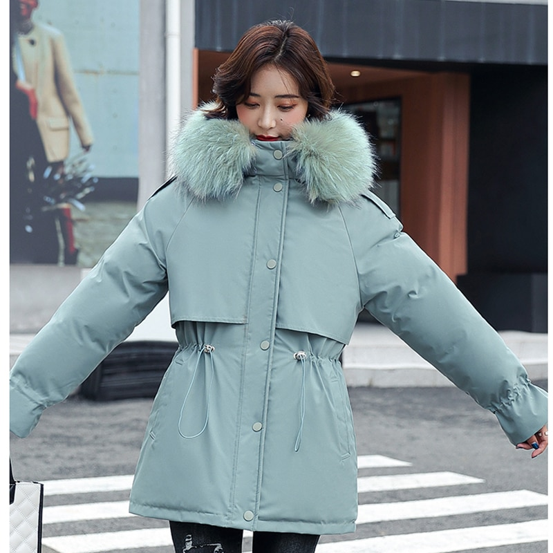 куртка зимняя женская Свободное пальто из хлопка, длинная стеганая одежда, Легкая стеганая куртка для женщин