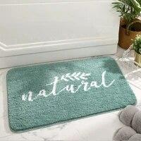 non slip bath mat absorbent thicken bathroom carpet soft flocking living room bedroom entrance doormat home floor decoration pad