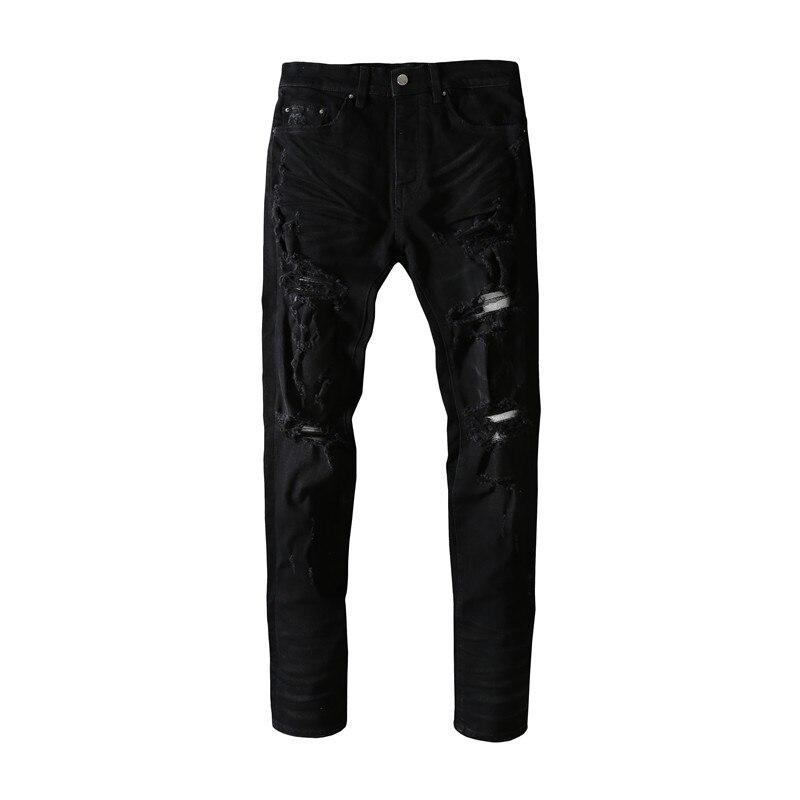 American Famous Brand AMR 2021ss New Thin Ripped Jeans Sweatpants Men Trousers Men's Pants Streetwear Men's Clothing Techwear