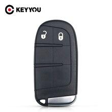 KEYYOU pour Jeep Chrysler 300 Dodge voyage chargeur de fléchettes Grand Cherokee pour Fiat avec petite clé à distance 2 boutons Smart Key Shell