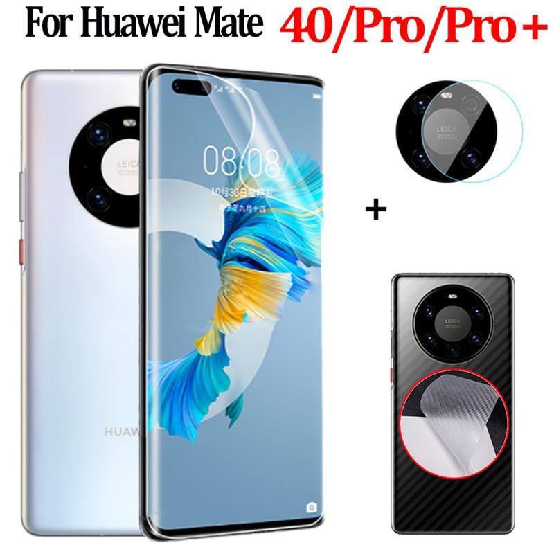 100D Película de hidrogel para Huawei Mate 40 Pro suave película protectora...