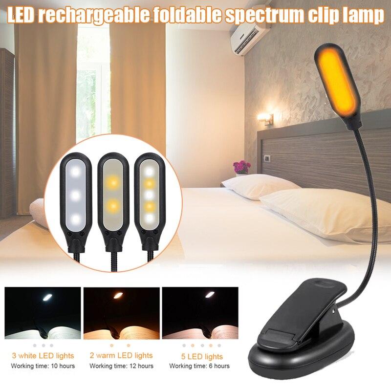 5 LEDs Luz de libro Clips sencillos en los ojos-luces de lectura para la lectura de abrazo-ofertas