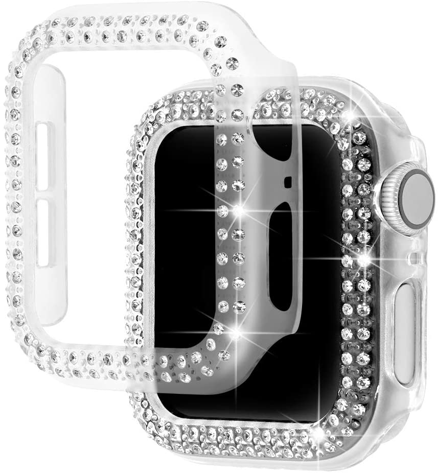 diamond case for apple watch band 40mm 44mm series 4 aluminum alloy frame strap bumper for iwatch 5 4 3 2 1 cover shell 38mm 42mm Diamond Bumper Protective Case for Apple Watch Cover Series 6 SE 5 4 3 2 1 38MM 42MM For Iwatch 6 5 4 40mm 44mm watch band strap