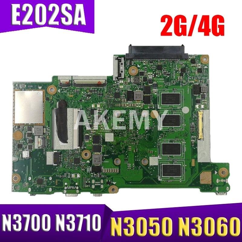 Akemy E202SA اللوحة الأم للكمبيوتر المحمول ASUS E202S E202SA اللوحة الأم E202SA مع 2G/4G N3050 N3060 N3700 N3710