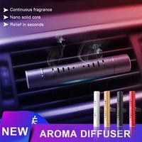 car air freshener air vent clip air condition aroma diffuser solid perfume fragrance with 5 scented perfume sticks car interior