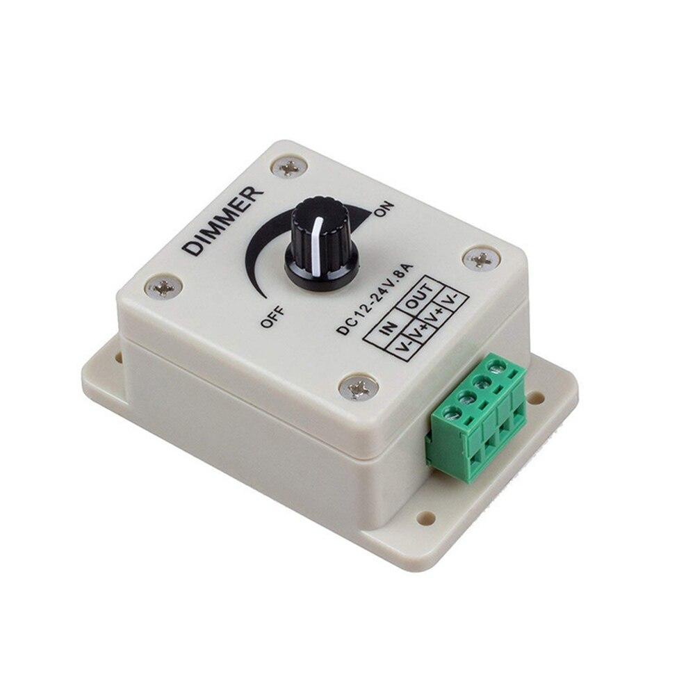 brandnew regulador de tensao 12 24v 8a led dimmer ajustavel brilho controlador monocromatico
