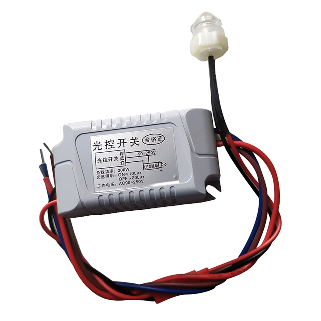 Light Control Sensor Switch Relay Module Light Detection Switch 90-250V