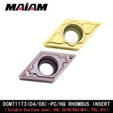 DCMT11T3 DCMT11T304 DCMT11T308 inserto DCMT rombo herramienta de torneado sduc sducr sducr11 herramienta de torneado inserto de varilla k11 dcmt11 PC HQ
