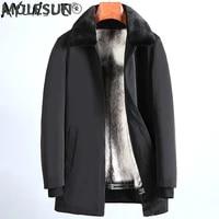 akoosun winter men jacket thick mens clothing real mink fur coat warm parkas 100 shearling clothes male hommes veste lxr455