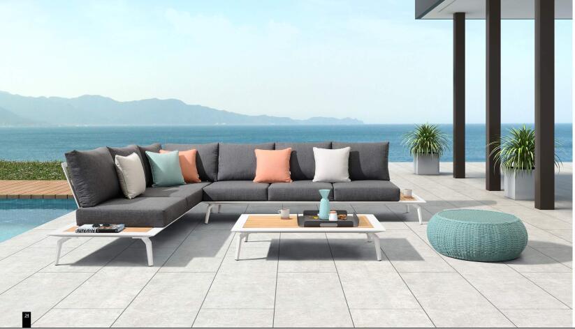 Outdoor furniture garden sofa set with water resistant and teak wood