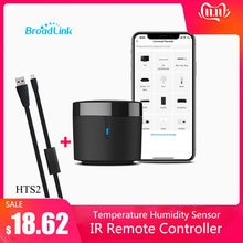 Broadlink RM4mini Temperature Humidity Sensor HTS2 WiFi IR Remote Controller for Air conditioning TV