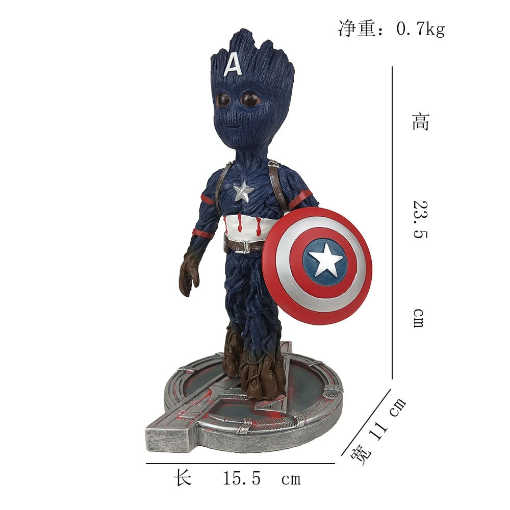 Marvel Anime Figure Tree Man Model Avengers 2 Small Tree Man Decoration Toys Hobbies Action Figures Holiday Gift For Children