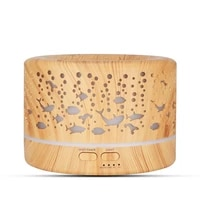 500ml big capacity aroma diffuser aromatherapy wood grain essential oil diffuser ultrasonic cool mist humidifier for office home