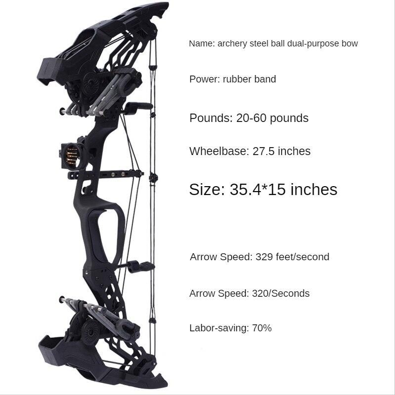 الرماية 20-60lbs مجمع القوس والسهم مجموعة السهام Carbow IBO329FPS 70% نسبة توفير العمالة اطلاق النار الصيد الملحقات