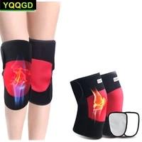 1pair self heating knee brace sleeve adjustable magnetic therapy knee pad support