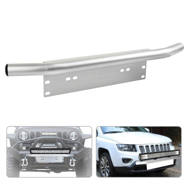 Bull Bar Car Bumper Licence Plate Holder Frame Work Led Light Bar Fog Lamp Mounting Bracket for Off road 4x4 SUV UAZ Tractor