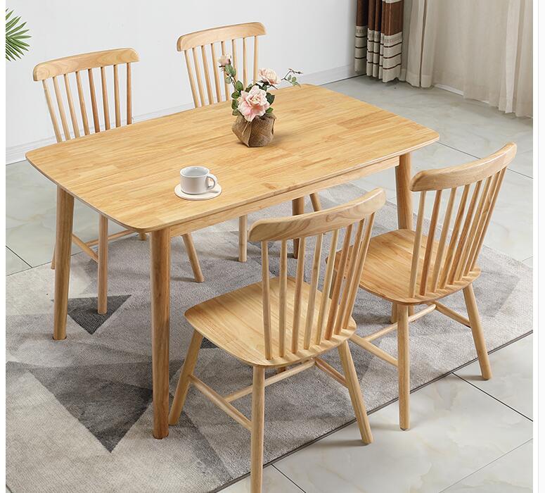 مستطيلة خشب متين طاولة طعام صغير عائلة طاولة طعام وكرسي