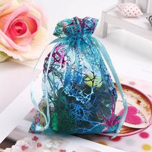 25 Pcs 12x9cm Fashion Korean Cute Jewelry Organizer Pouch Wedding Party Favor Gift Bag Organza Jewelry Pouch Candy Bag