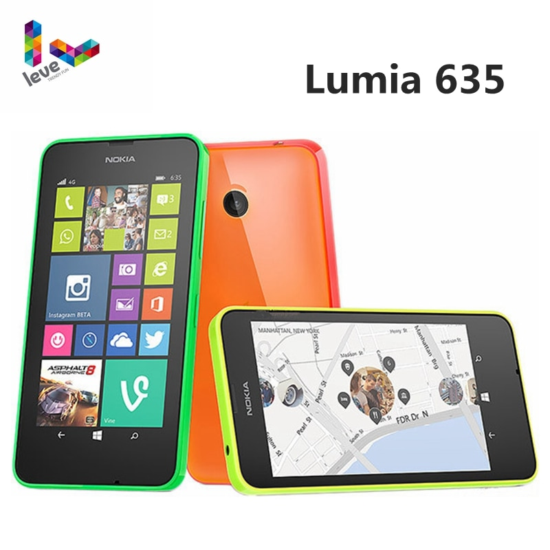 Original Nokia Lumia 635 4G LTE desbloquear teléfono móvil Windows OS 4,5...