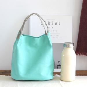 Canvas Bag Handbag Shoulder Cloth Bags Women Shopping Bag Tote Female Eco Grocery Crossbody Bag Ladies simple Messenger Bags
