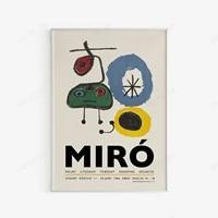 joan miro exhibition poster 1966 nordic edition abstract surrealist wall art digital download wall art spanish artists