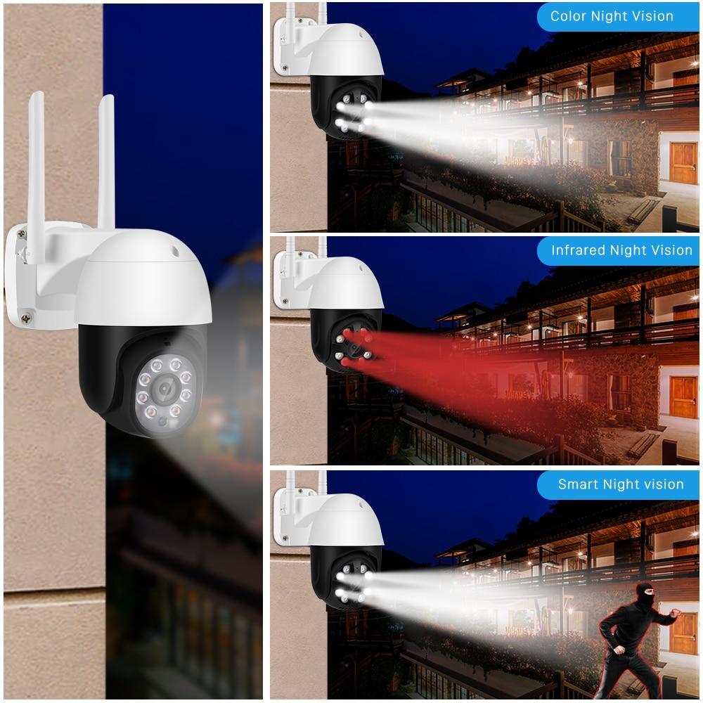 Cmara IP de 5MP para exteriores, Wifi, PTZ, Zoom Digital 4X, 1080P, inalmbrica, H.265, alerta de deteccin VIF enlarge