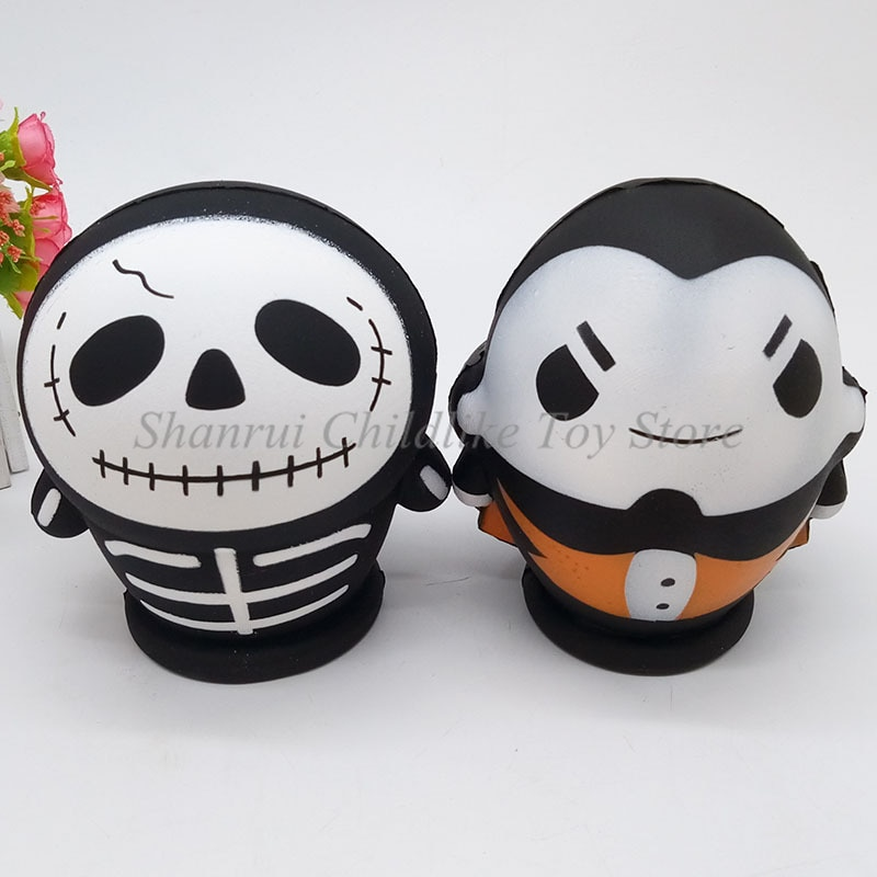 Squishy Toy Scented Stress Relief Toy Props Soft Exquisite Skull Doll Decompression Simulation Toys Toys for Adults Kids Gifts enlarge