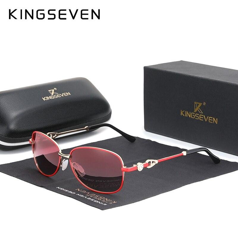 Kingseven moda óculos de sol para mulher polarizado gradiente óculos de sol feminino design de luxo oculos senhoras tendências estilos