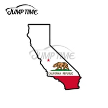 Jump Time 13 x 12cm For California State Outline Sticker Decal Vinyl JDM Import Drift Car Stickers W