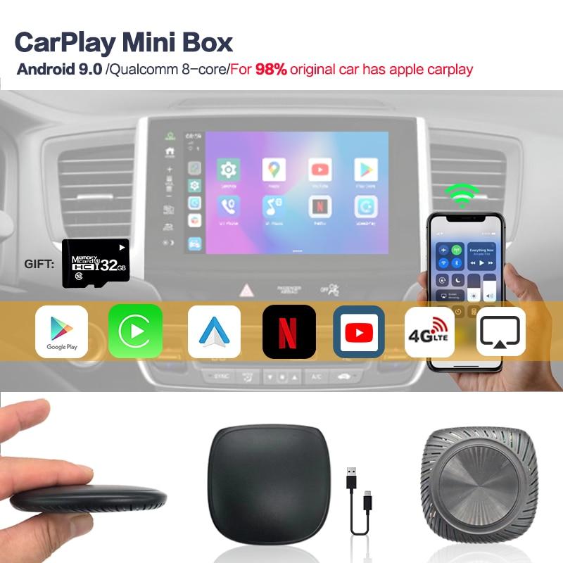 Carplay ApplePie صندوق أندرويد لابل Carplay Ai صندوق Netfix UX999 4 + 64G أندرويد صندوق السيارات لبنز أودي كيا نيسان هيونداي
