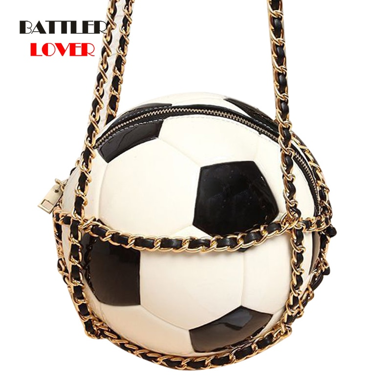 2020 Original Soccer Ball Shape Designer Women Plain Black Basketball Totes for Female Purse and Handbag Football Messenger Bags