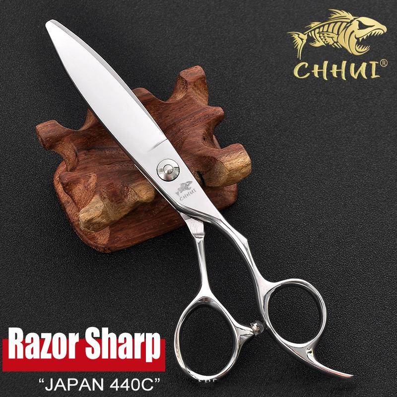 60 polegada japao 440c ampla lamina tesouras de cabeleireiro profissional alta qualidade