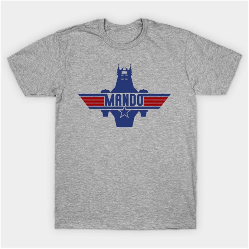 Camiseta mandaloriana de la Guerra de Las Galaxias camiseta mandaloriana del caza de las lanchas