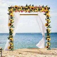 Guirlande de tournesol artificielle en soie  decoration de Table de mariage  decoration de maison  salle suspendue