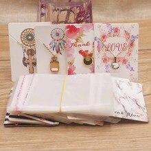 50 pçs 25 cartão + 25opp sacos mais novo chegou popular brinco cartões papelão exibição jóias cartão de design de moda quente 5x7cm