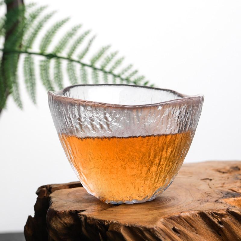 كوب شاي زجاجي صغير مقاوم للحرارة على الطراز الياباني 210406-09