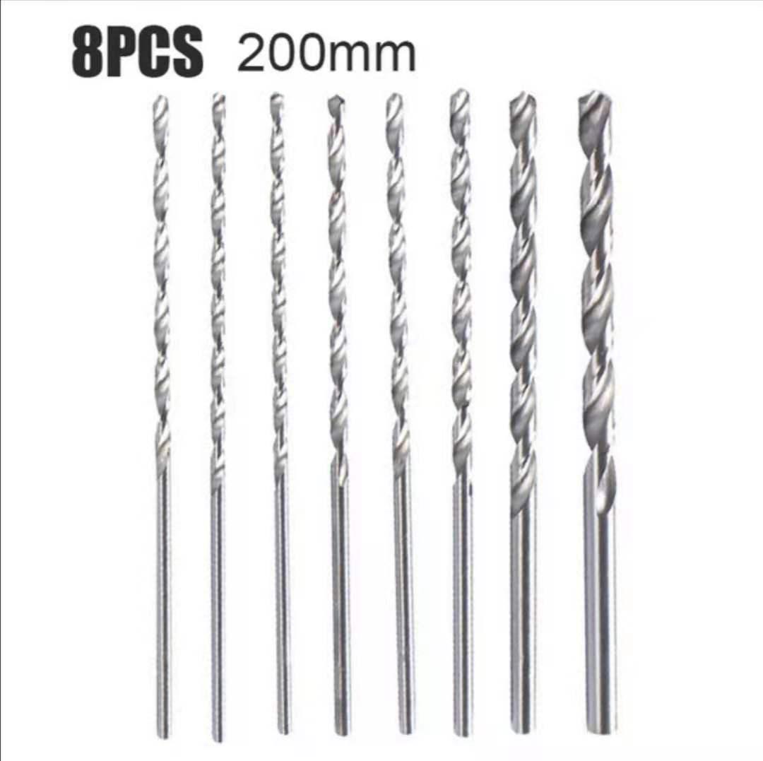 AliExpress - 8pcs 200mm Extra Long HSS Larger Drill Bit Set Straight Shank Tool Wood Metal Drilling Tools Drill Bit