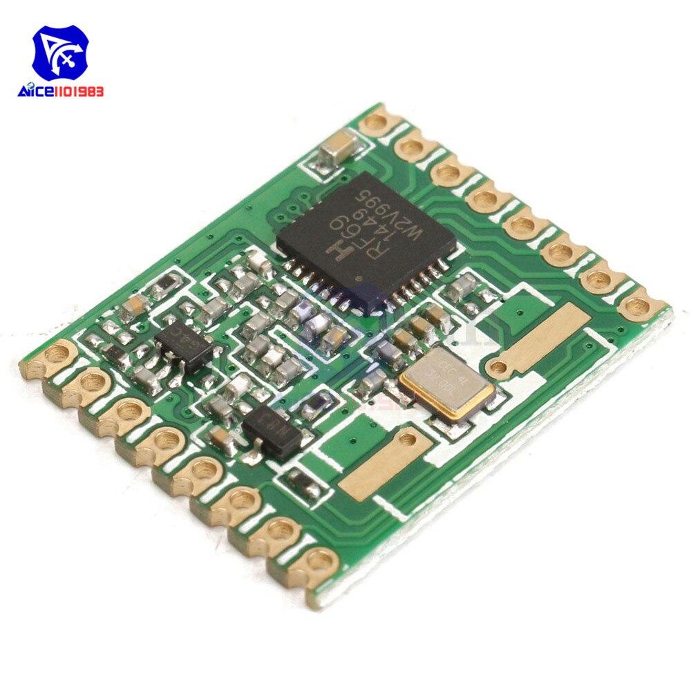 Diymore RFM69HW 433 mhz/868 mhz/915/400-520mhz トランシーバモジュール高統合 hoperf 868S2 ワイヤレスモジュール spi 1.8-3.6 12v dc