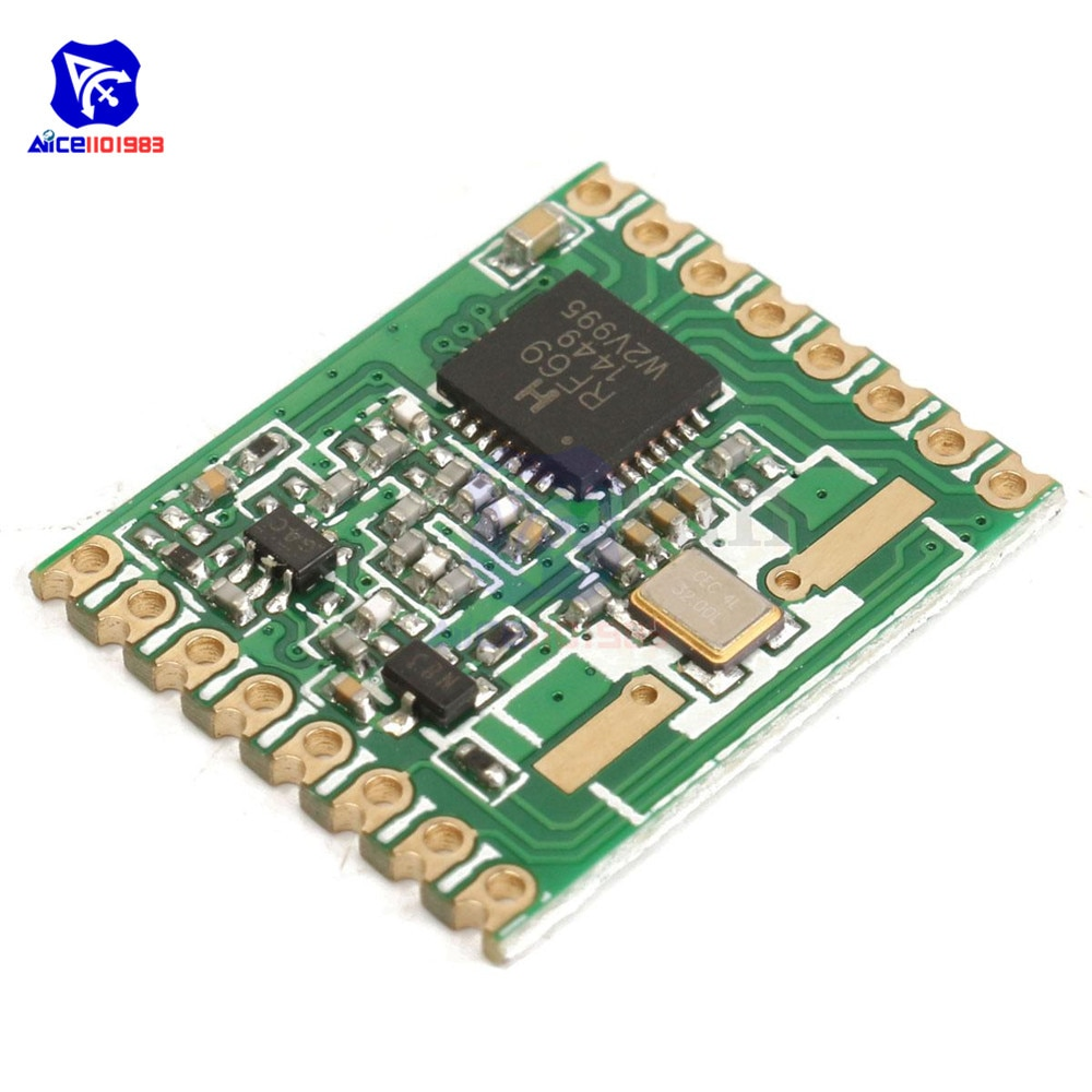 diymore RFM69HW 433MHz / 868MHz / 915MHz Transceiver Module High Integrated HopeRF 868S2 Wireless Module SPI 1.8-3.6V DC