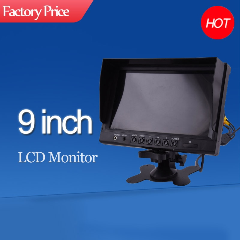 High quality 9 Inch car AHD LCD Monitor applicable to all vehicles