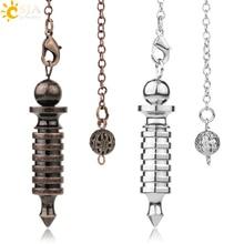 CSJA péndulo de Metal para Dow Pendule Pendulo adivinación Radiestesia curación mujeres hombres amuleto con forma de tornillo encanto joyería G190