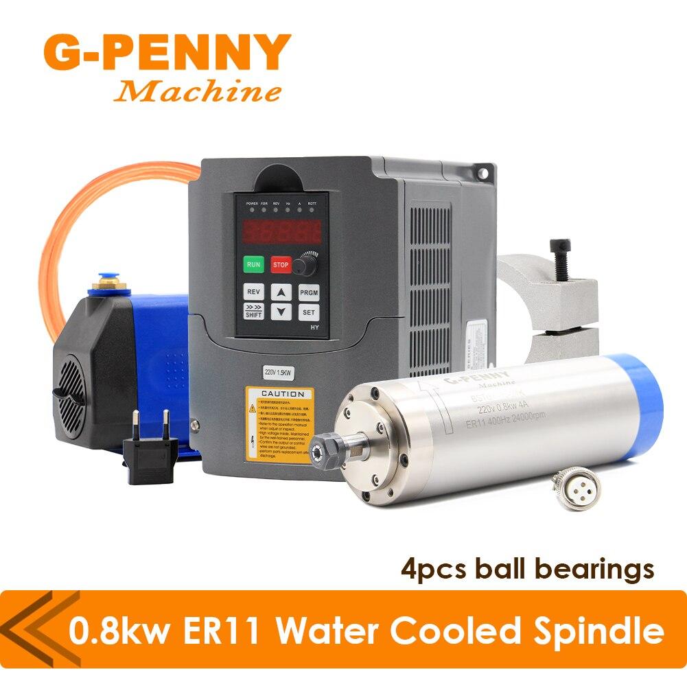 مجموعة محرك المغزل المبرد بالماء ، 800 كيلو واط ، 4 محامل ، بقطر طوق مضخة مياه 65 مللي متر و 1.5 كيلو وات, عاكس ، VFD و 75 وات