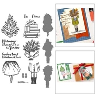 book girl cutting new 2021 clear stamps and dies scrapbooking new arrival metal die cutters for scrapbooking stamping christmas