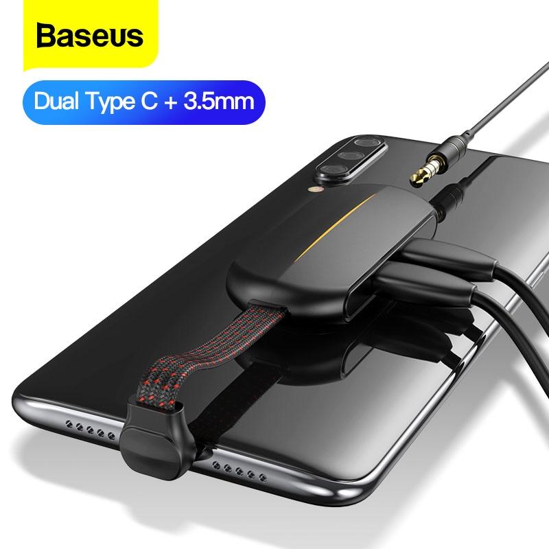 Baseus-محول PD 18W Type C ، شحن سريع ، مقبس Usb 3.5 مللي متر ، محول سماعة رأس Aux ، لهاتف Xiaomi mi Note 8 Pro Huawei Samsung