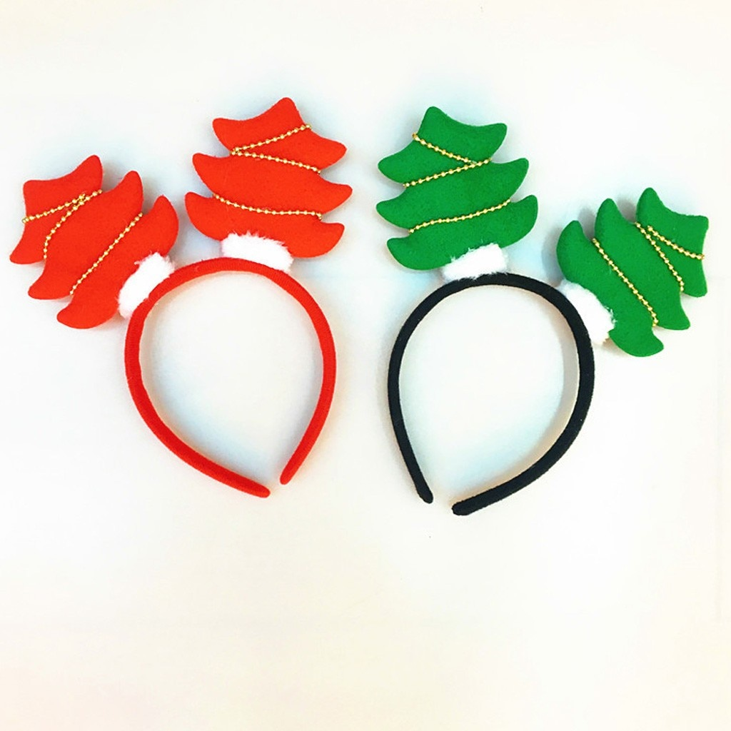 Campana navideña para el árbol accesorios para el cabello para niñas cinta para el pelo de Navidad para niñas con orejas bandolete #3