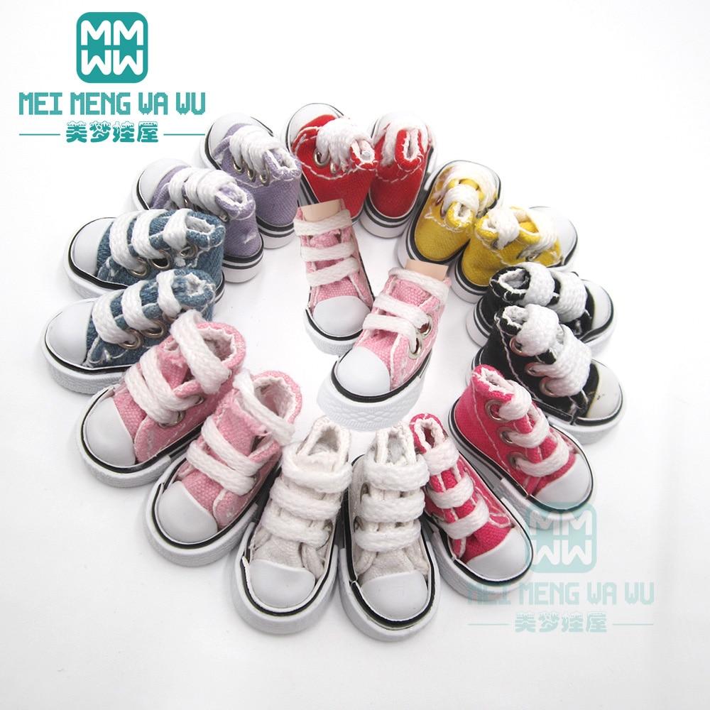 3.5*2cm doll shoes for 1/6 28-30cm blyth Azone OB23 OB24 fashion sneakers white, pink, yellow, denim blue