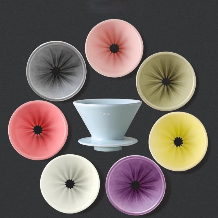 Caja de Filtro de café de cerámica nórdica, accesorios de cocina, gotero...