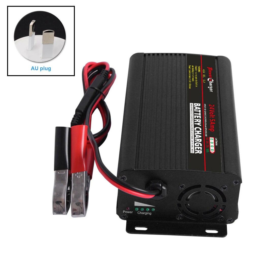Chargeur automatique intelligent de batterie de 24V 5Amp avec des agrafes dalligator pour des camions de Scooter de voiture