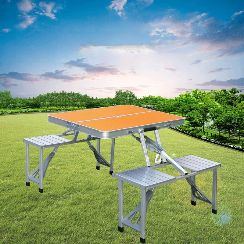 سبائك الألومنيوم في الهواء الطلق طاولة قابلة للطي كرسي التخييم نزهة الجدول مقاوم للماء خفيفة للغاية دائم طاولة قابلة للطي مكتب لمجموعة